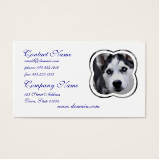 Blue Eyed Husky Business Cards