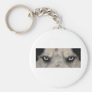 Blue eyed Husky dog Keychain