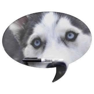 Blue Eyed Husky Dry-Erase Whiteboard