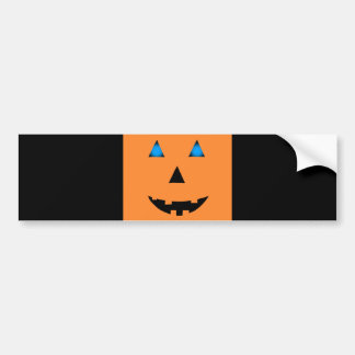Blue Eyed Jack-O-Lantern Bumper Sticker