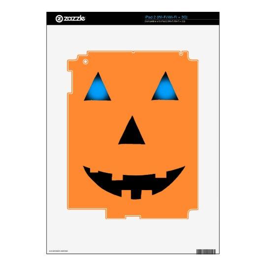 Blue Eyed Jack-O-Lantern iPad 2 Skin