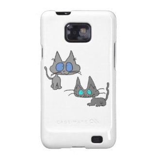 Blue Eyed Kitty Cats Samsung Galaxy S2 Covers