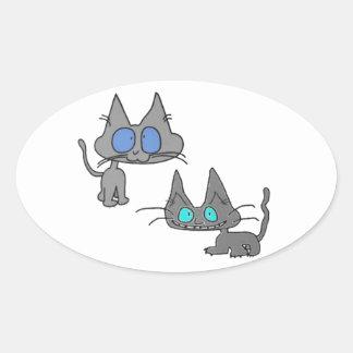 Blue Eyed Kitty Cats Sticker