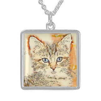 Blue Eyed Kitty Medium Pendant