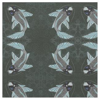 Koi fish fabric zazzle for Koi fish print fabric
