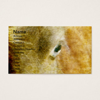 Blue Eyed Mini Filly Grunge Business Card