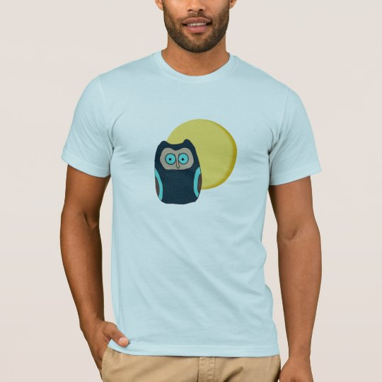 Blue-Eyed Owl and Full Moon Shirt