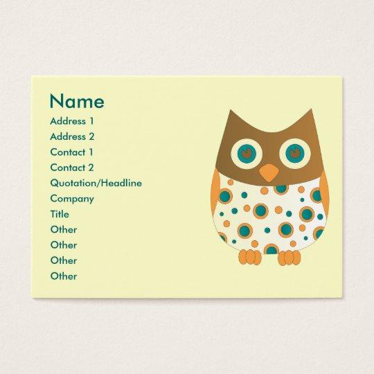 Blue-Eyed Owl Business Card