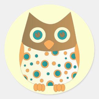 Blue-Eyed Owl Classic Round Sticker