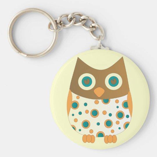 Blue-Eyed Owl Keychain