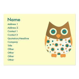Blue-Eyed Owl Large Business Card