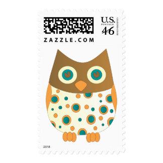 Blue-Eyed Owl Postage Stamps