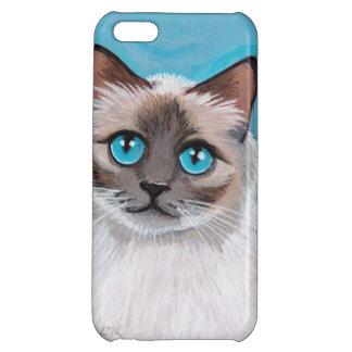 Blue Eyed Ragdoll Cat Portrait Case For iPhone 5C
