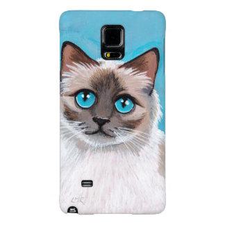 Blue Eyed Ragdoll Cat Portrait Galaxy Note 4 Case