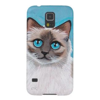 Blue Eyed Ragdoll Cat Portrait Galaxy S5 Cover