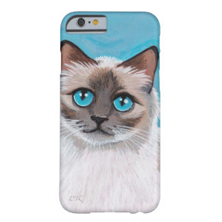 Blue Eyed Ragdoll Cat Portrait iPhone 6 Case