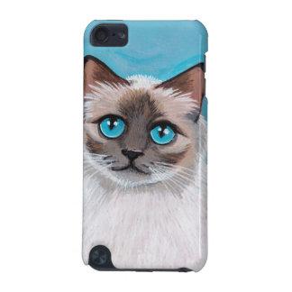 Blue Eyed Ragdoll Cat Portrait iPod Touch 5G Case