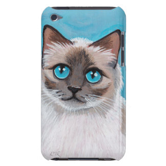 Blue Eyed Ragdoll Cat Portrait iPod Touch Covers