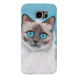 Blue Eyed Ragdoll Cat Portrait Samsung Galaxy S6 Case