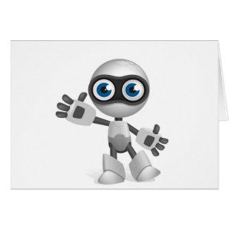 """""""Blue eyed robot"""" Greeting Card"""