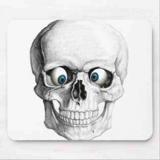 Blue Eyed Skull Mousepad