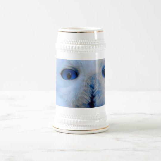 Blue Eyed Snow Owl Beer Stein