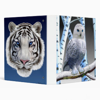 BLUE-EYED SNOW OWL BINDER