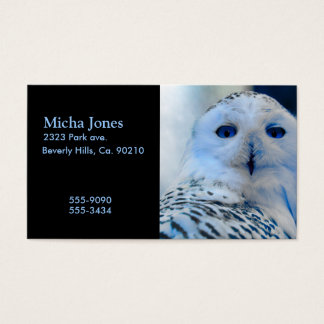 Blue Eyed Snow Owl Business Card