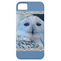 Blue Eyed Snow Owl iPhone SE/5/5s Case