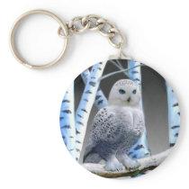 Blue-eyed Snow Owl Keychain