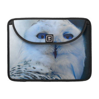Blue Eyed Snow Owl MacBook Pro Sleeve