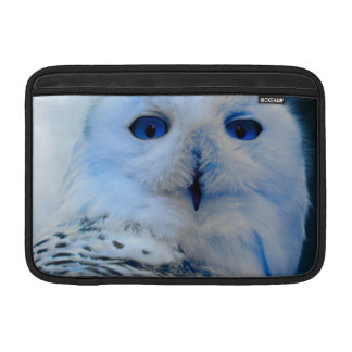 Blue Eyed Snow Owl MacBook Sleeve