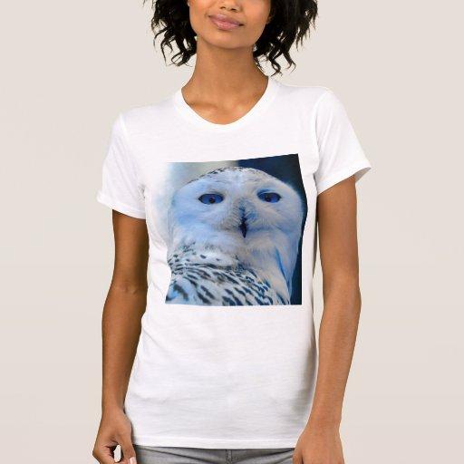 Blue Eyed Snow Owl Tee Shirt