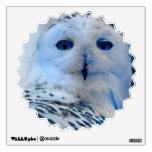 Blue Eyed Snow Owl Wall Sticker