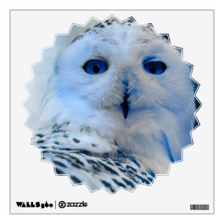 Blue Eyed Snow Owl Wall Sticker