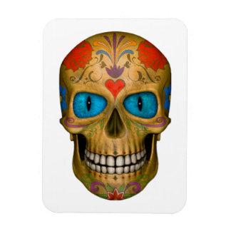 Blue Eyed Sugar Skull Zombie  Flexible Magnet