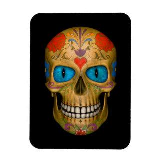 Blue Eyed Sugar Skull Zombie Flexible Magnets