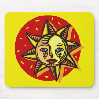 Blue Eyed Sun Mouse Pad