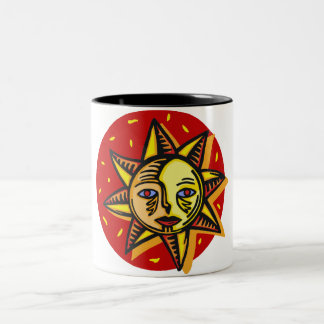 Blue Eyed Sun Two-Tone Coffee Mug