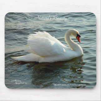 Blue eyed Swan Mousepad