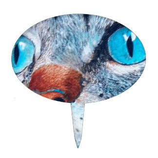 Blue-eyed Tabby Cake Topper