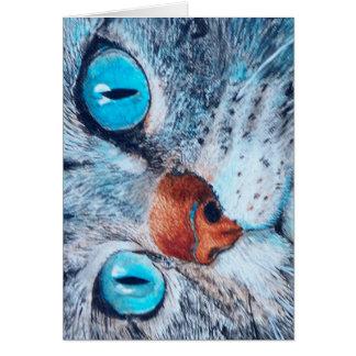 Blue-eyed Tabby Card