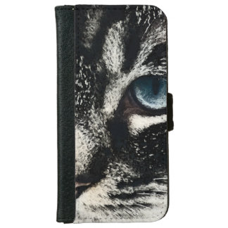 Blue-eyed Tabby Cat Wallet Style Phone Case