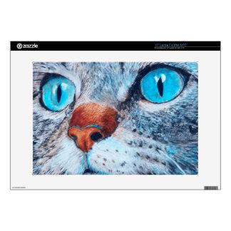 Blue-eyed Tabby Skin For Laptop
