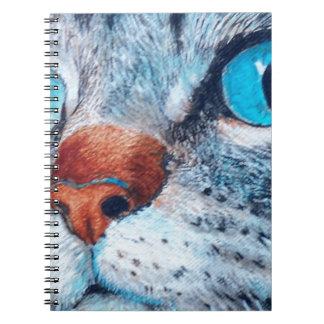 Blue-eyed Tabby Spiral Notebook