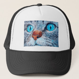 Blue-eyed Tabby Trucker Hat