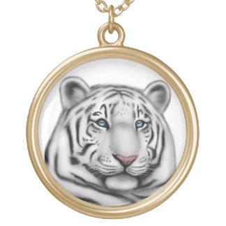 Blue Eyed White Tiger Necklace