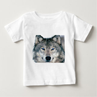 Blue Eyed Wolf Baby T-Shirt