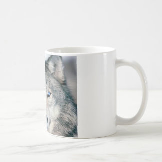 Blue Eyed Wolf Coffee Mug