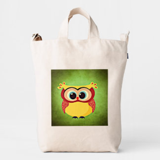 Blue Eyed Yellow Owl Duck Bag